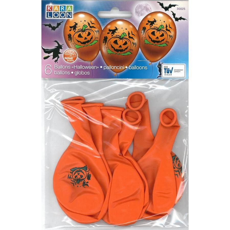 Halloween Deko Luftballon 6er Set 28 30cm Kinder Deko Helium Geeignet